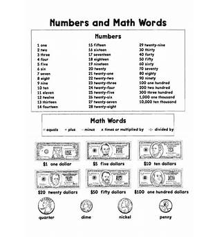Math Words That Start With H