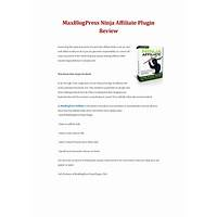 Maxblogpress ninja affiliate instruction