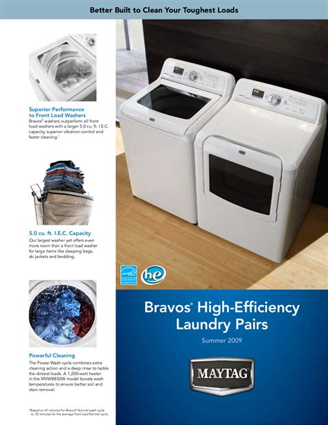 maytag bravos ecoconserve washer troubleshooting pdf manual