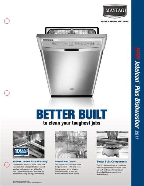 maytag jetclean dishwasher eq plus pdf manual