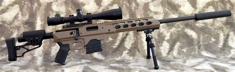 Mdt Tac21 20 Inch Suppressed Modular Rifle Mdt Chassis And Colt Handguard Retaining Ring Steel Black Brownells