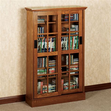 Media Storage Cabinets Wooden Image