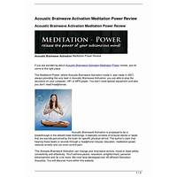 Meditation power acoustic brainwave activation discount