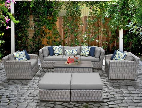Meeks 8 Piece Sectional Seating Group with Cushions