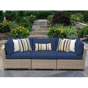 Meier Patio Sofa with Cushions