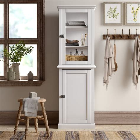 "Mejia 21.65"" W x 68.31"" H Linen Tower"
