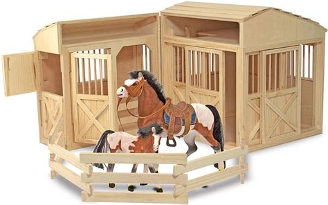 Melissa And Doug Horse Stable With Horses Image