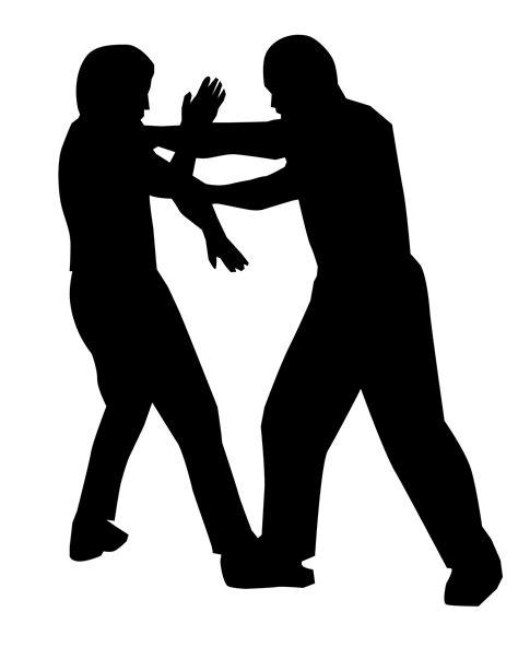 Mens Self Defense Clip Art White