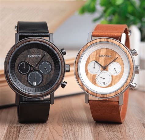 Mens wooden watch Image