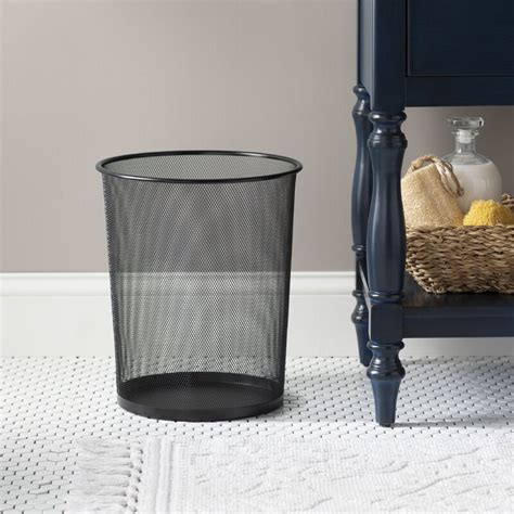 Mesh Metal 4 Gallon Waste Basket