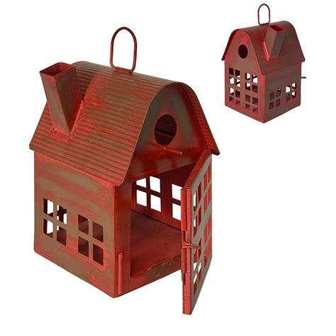Metal bird houses Image