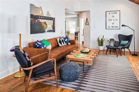 Mid Century Modern Apartment Living Room