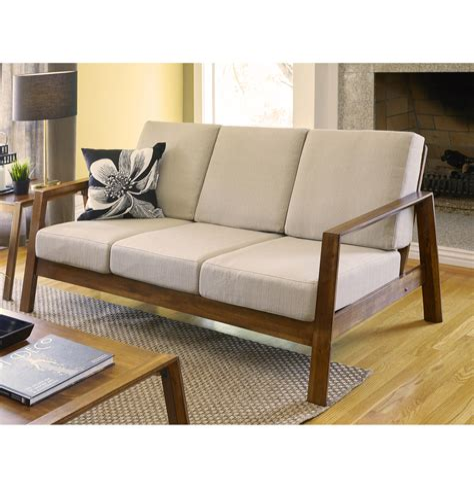 Mid Century Modern Sofa Wood