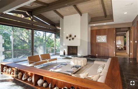 Mid Century Modern Sunken Living Room