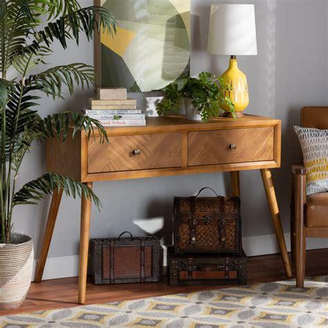 Mid century wood table Image