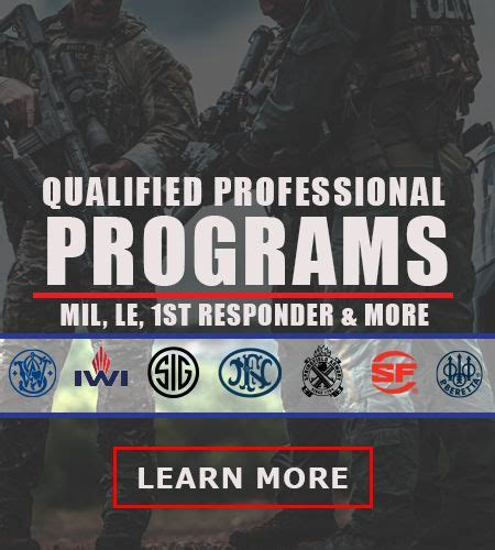 Military Le 1st Responder Individual Officer Programs