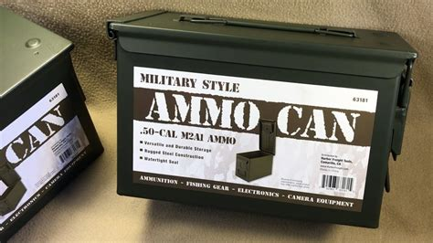 Military Style 50 Cal M2a1 Ammo Can From Harbor Freight Item 63181