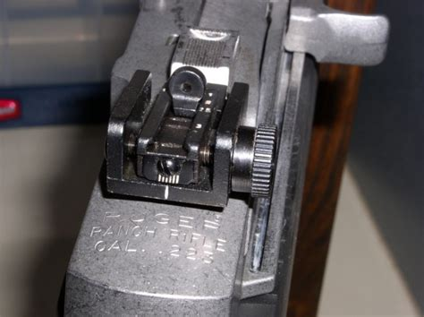 Mini 14 Ranch Rifle M1 Carbine Rear Sight Modification