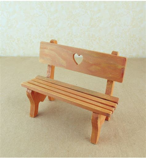 Miniature wooden bench Image