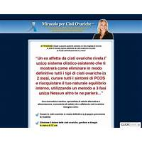 Miracolo per cisti ovariche(tm): ovarian cyst miracle(tm) in italian! scam?