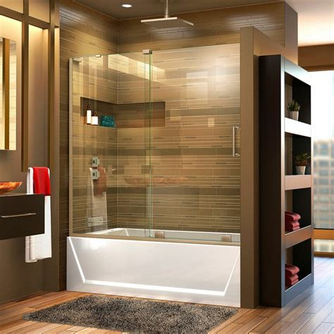 "Mirage-X 58"" x 60"" Single Sliding Frameless Tub Door with ClearMax™ Technology"