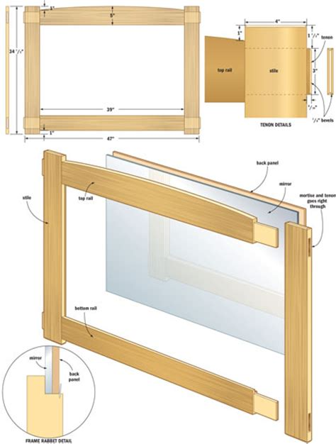 Mirror woodworking plans Image