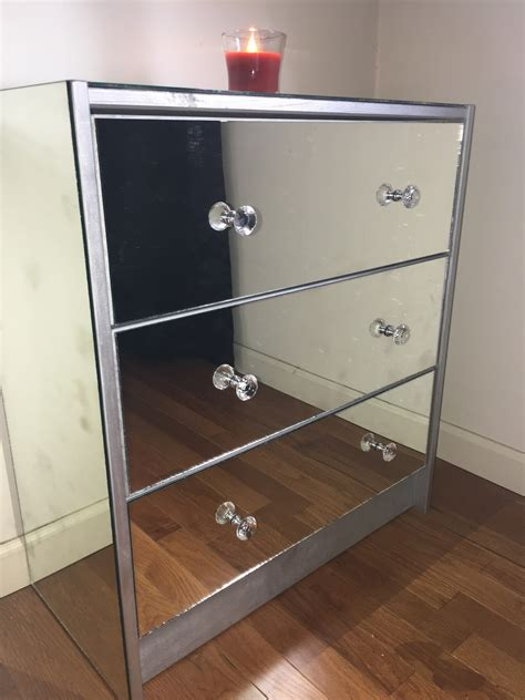 Mirrored dresser diy Image