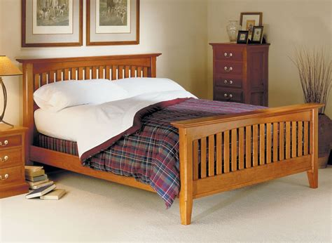 Mission style bed woodworking plans Image