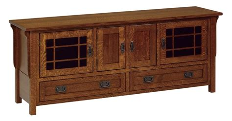 Mission style tv stand woodworking plans Image