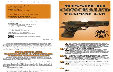 Missouri Concealed Handgun Laws
