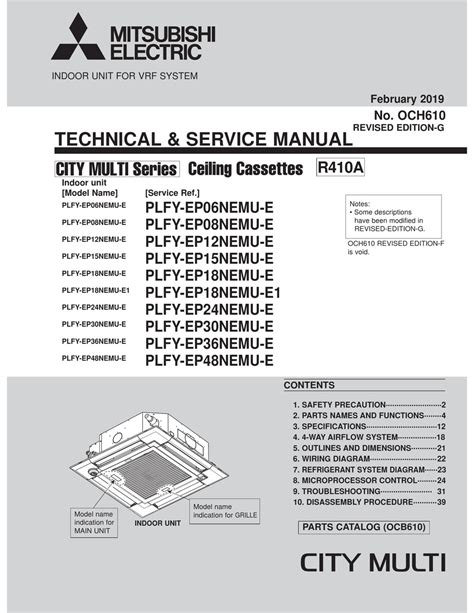 mitsubishi electric city multi pdf manual