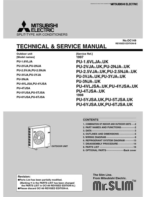 mitsubishi indoor unit service manual pdf manual
