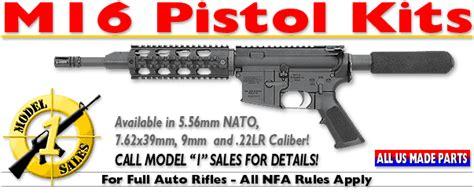 Model 1 Sales M16 Pistol Kits