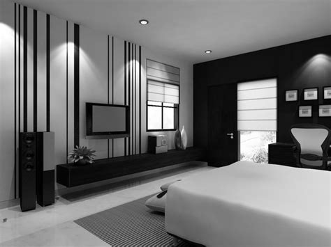 Modern Bedroom With Tv
