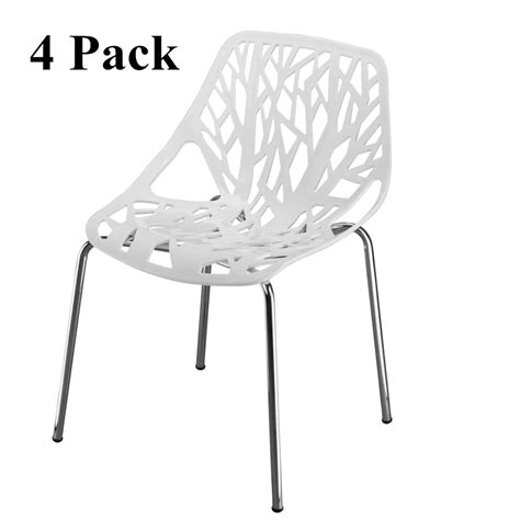 Modern Hollowed-Out Style Side Chair (Set of 2)