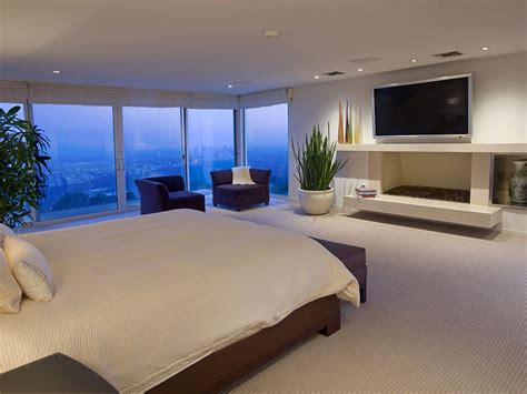 Modern Mansion Master Bedroom With Tv