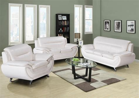 Modern White Living Room Set