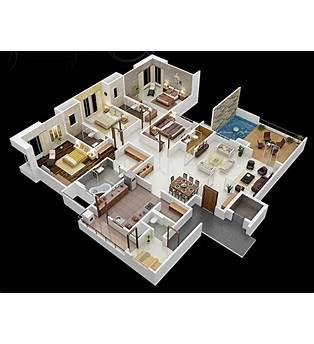 Modern Floor Plans 4 Bed