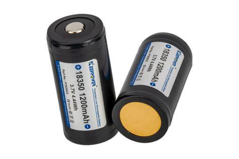 Modlite Systems Keeppower Battery Packs Keeppower 18350 1200mah Battery 2pk
