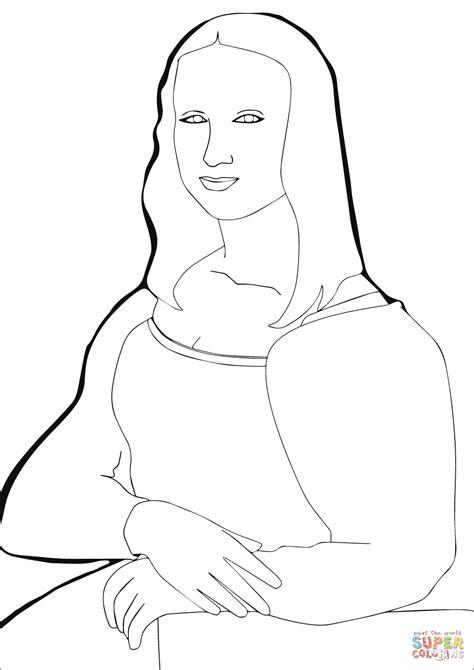 Mona Lisa Malvorlage