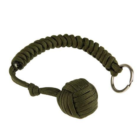Monkey Fist Steel Ball Self Defense Keychain