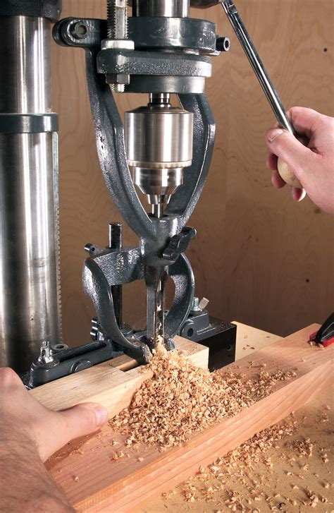 Mortising with a drill press Image