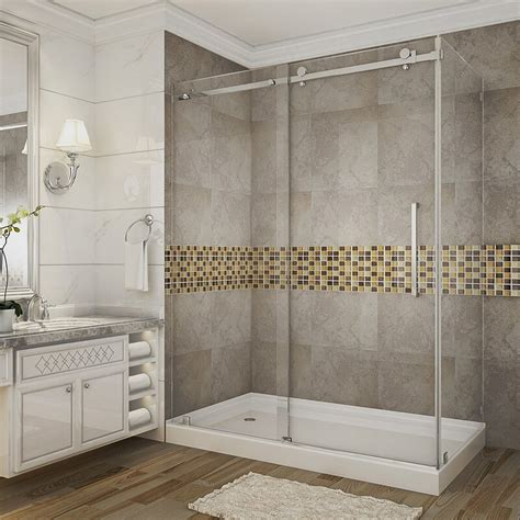 "Moselle 60"" x 77.5"" Rectangle Sliding Shower enclosure with Base Included"