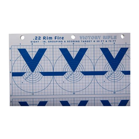 Mountain Plains Industries Hivisibility Blue Series Paper Targets Hivisibilty 22 Rimfire Victory Rifle Paper Targets 25pk