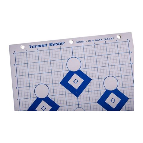 Mountain Plains Industries Hivisibility Blue Series Paper Targets Hivisibilty Firing Line Paper Target 25pk