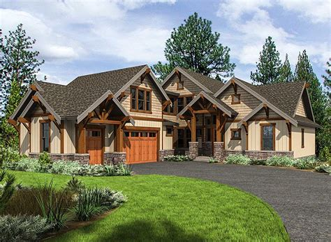 Mountain craftsman home plans Image