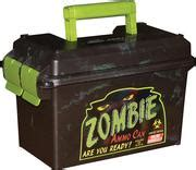 Mtm Ac50z Zombie Ammo Can 50 Cal 7 4 X13 5 X8 5 Poly Blk Grn
