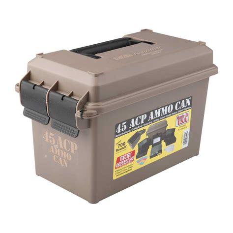 Mtm Ammo Can 45acp Polymer Tan Brownells Norge