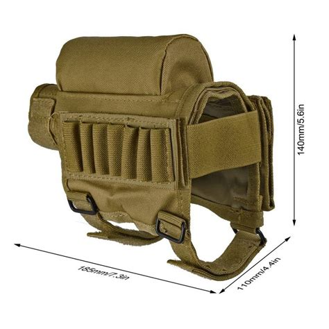 Multicam Shotgun Shell Buttstock Pouch