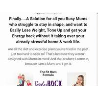 Mum s bodyback weight loss plan promotional code
